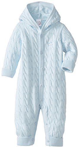 Little Me Baby-Boys Newborn Cable Coverall, Light Blue, 3 Months front-893471