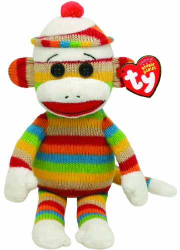 Ty Beanie Babies Socks Monkey (Stripes) at 'Sock Monkeys'