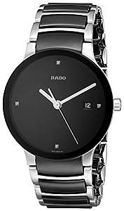 Rado Women's R30934712 Centrix Black Ceramic Bracelet Watch: Rado