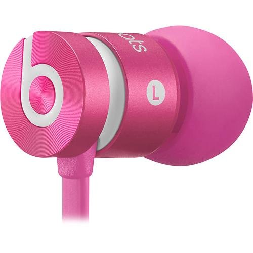 Beats By Dr. Dre Urbeats In-Ear Headphones (Dark Pink) Bundle With Beats Cable With Microphone And Custom Designed Zorro Sounds Cleaning Cloth