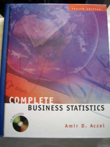complete business statistics by amir aczel pdf