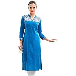Soft Cotton Fabric Kurti For Day To Day Wear