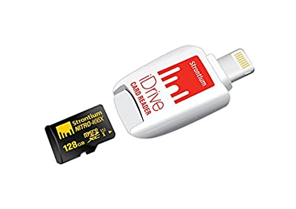 Strontium Nitro 466x 128GB MicroSDXC Class 10 UHS-1 Memory Card (With Nitro iDrive Card Reader)