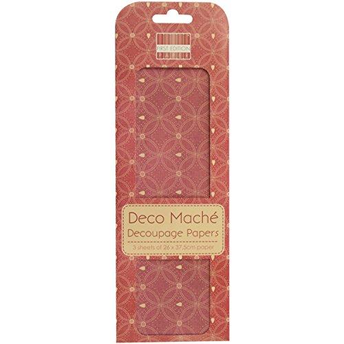 """Deco Mache Paper 10.25""""X14.75"""" 3/Pkg-Love Letters, Hearts"""