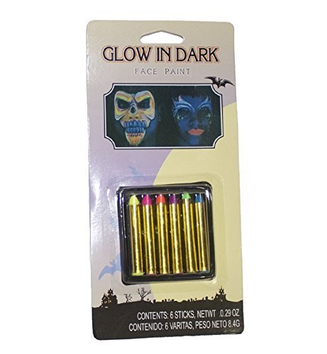 Glow In The Dark Neon Face Paint Crayons Markers Costume Party Halloween