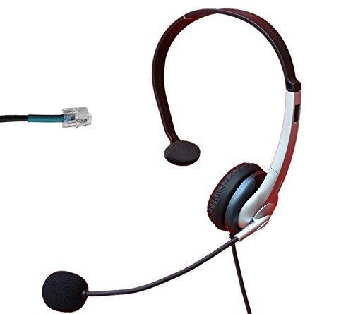Voistek Call Center Telephone Headset with Noise Canceling Microphone for Nortel Nec Mitel Aastra Siemens GE 3Com Toshiba InterTel Sprint Talkswitch ShoreTel Iwatsu Packet8 ESI Allworx Office IP Phones (Monaural A2K10) (Nortel Phone Accessories compare prices)