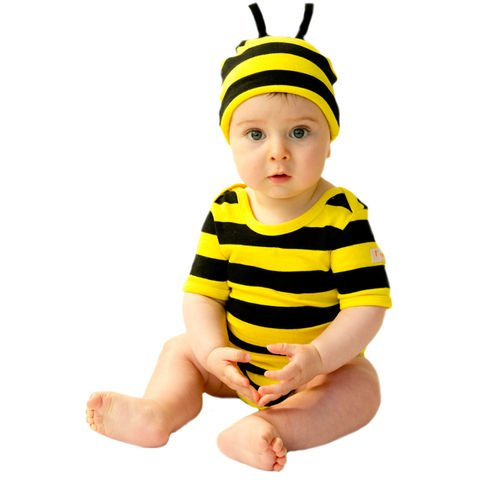 2pc Bodysuit and Hat Outfit - (Bumble Bee) Animal