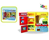 Kidoloop Cooking Kitchen Tool Fridge Play Set Light & Music for kids Electronic Kitchen Play Set Battery Operated