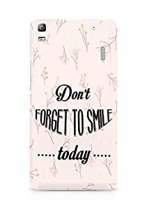 Amez Dont forget to Smile Today Back Cover For Lenovo K3 Note