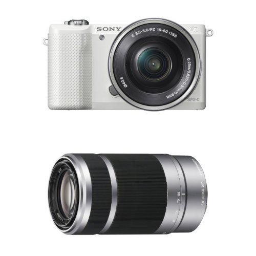 Sony Alpha a5000 Interchangeable Lens Camera with 16-50mm OSS and 55-210mm Lens...