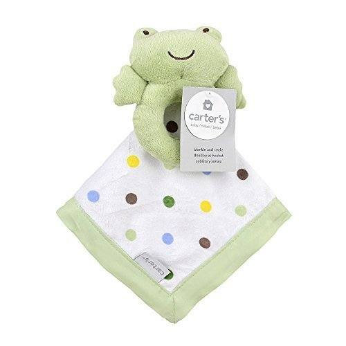 Carter's Frog Rattle Security Blanket