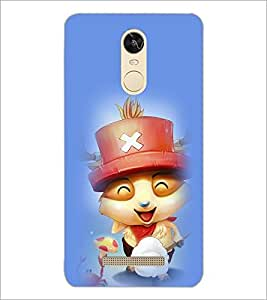 PrintDhaba Smiling Kitty D-2902 Back Case Cover for XIAOMI REDMI NOTE 3 (Multi-Coloured)