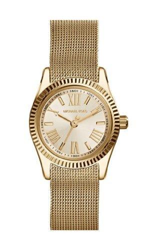 Michael Kors Petite Lexington Champagne Dial Gold-Tone Mesh Ladies Watch Mk3283