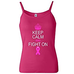 Keep Calm And Fight On Support Women's Spaghetti Tank Top