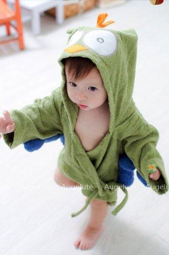 COM★MI-CHILD-RB-緑◆激カワ!!!癒される!!!可愛い子に可愛いバスローブ お子様にピッタリ 出産祝い 贈り物 にも