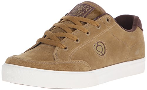 C1RCA Men's AL50 Slim Skate Shoe, Camel/Pinecone, 8 M US