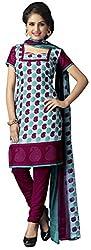 The Desi Attire Women's Crepe Unsticthed Dress Material (107_Blue_36)