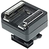 RJ Camera MSA Canon Camcorder Mini Hot Shoe Adapter to Universal Shoe Adapter (Black)