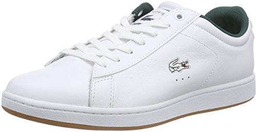 Lacoste CARNABY EVO REI, Herren Sneakers, Weiß (WHT/WHT 21G), 44 EU (9.5 Herren UK) thumbnail