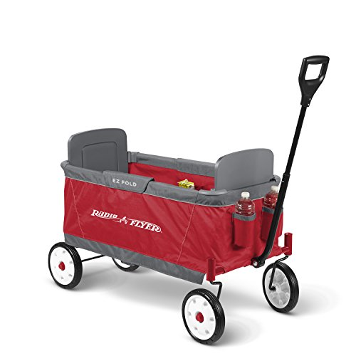 Radio Flyer Ez Fold Wagon Ride On, Red (Folding Wagon With Seats compare prices)