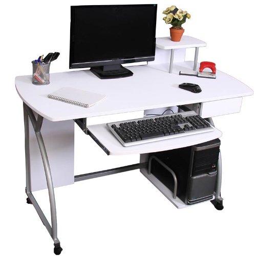 Jugend-Schreibtisch Computertisch Bürotisch Ohio II, ca 90x115x55cm ~ weiß kaufen