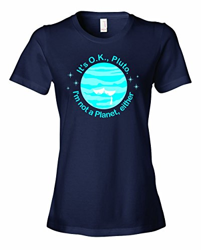 Michaner Walosde Ladies It's Ok PLUTO I'm Not A Planet Either Astronomy T-Shirt X-Large
