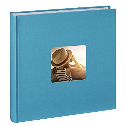 hama-jumbo-fotoalbum-fine-art-30-x-30-cm-100-seiten-50-blatt-mit-ausschnitt-fur-bildeinschub-hellbla