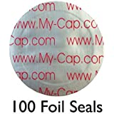 100 Foil Seals to Reuse Your Starbucks Verismo Pods, CBTL and Caffitaly Capsules