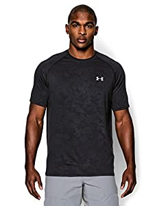 Under Armour Men's UA Tech™ Patterned Short Sleeve T-Shirt Large Black
