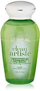 L'Oreal Paris Clean Artiste Waterproof & Long Wearing Eye Makeup Remover, 4.0 Ounces