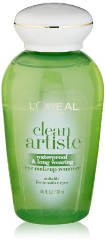L'Oreal Paris discount duty free L'Oreal Paris Clean Artiste Waterproof & Long Wearing Eye Makeup Remover, 4.0 Ounces