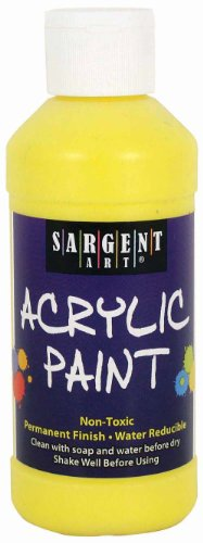 Sargent Art 22-2302 8-Ounce Acrylic Paint, Yellow