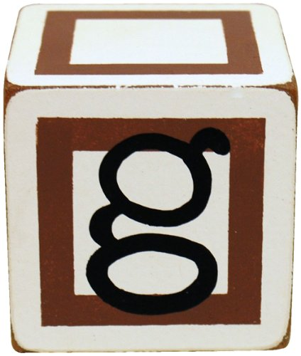 New Arrivals Letter Block G, Chocolate/White