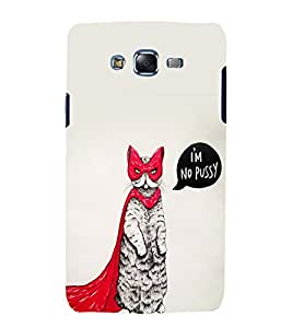 printtech Cute Cat Kitten Superhero Back Case Cover for Samsung Galaxy Grand Max G720