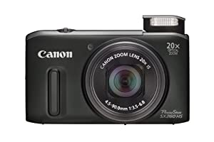 Canon Powershot SX260 HS Digital Camera - Black (12.1 MP, 20x Optical Zoom) 3.0 Inch LCD