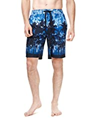 XXXL North Coast Palm Tree Print Quick Dry Swim Shorts