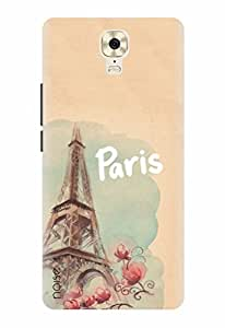 Noise Designer Printed Case / Cover for Gionee M6 Plus / Patterns & Ethnic / Eiffel Design