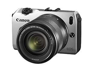 Canon EOS M kompakte Systemkamera (18 Megapixel, 7,6 cm (3 Zoll) Display, Full HD, Touch-Display) Kit inkl. EF-M 18-55mm 1:3,5-5,6 IS STM und Speedlite 90EX silber