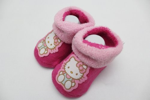 Licensed Hello Kitty Baby 2 Pair Crib Shoes / Booties / Socks Infant 0-12 Mos