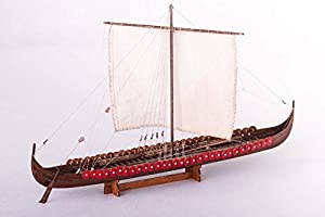 Daniel Dusek DSK014. Viking ship kit wood model Longship. 1/72 Scale