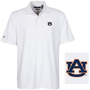 NCAA Auburn Tigers Mens Greencastle Coolmax Jacquard Polo Shirt by Oxford