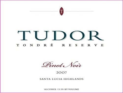 2007 Tudor Wines Pinot Noir Vineyards Santa Lucia Highland Tondre Reserve 750 Ml