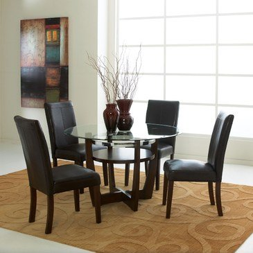 Standard Furniture Apollo 5 Piece Dining Room Set in Brown Cherry