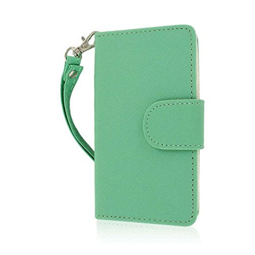 LG Optimus F3 (MS659) Wallet Case, MPERO FLEX FLIP Wallet Case for LG Optimus F3 MS659 - Mint (Lg F3 Wallet Case compare prices)