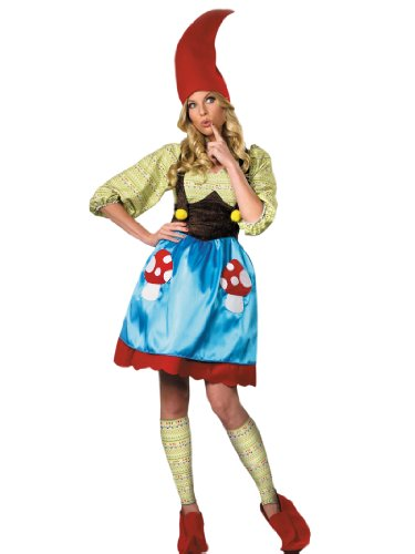 Gnome Costume Dress Leg Warmers Hat and Boot Covers Womens Theatrical Costume