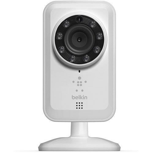 Belkin F7D7601as Videocamera Wi-Fi con Visione Notturna Netcam, Infrarossi, Bianco