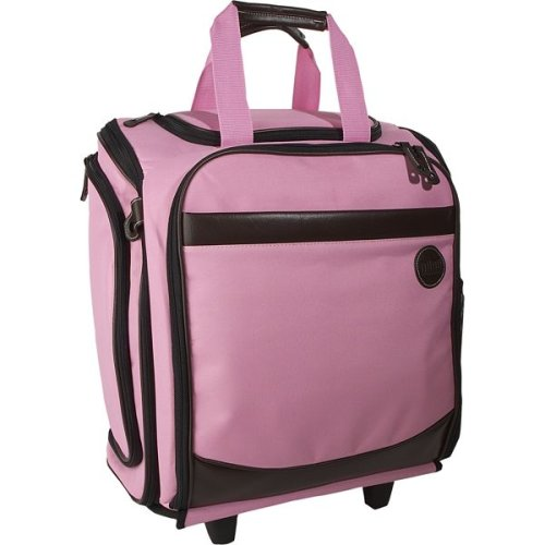 Pink Scrapbooking Tote Scrapbook Totes on Wheels