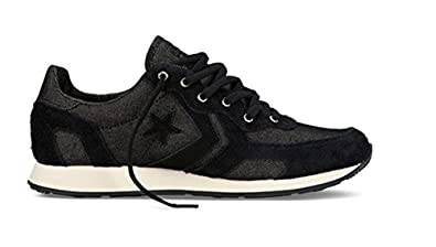 Converse Auckland Racer Ox Trainers - Black / Natural - UK 8