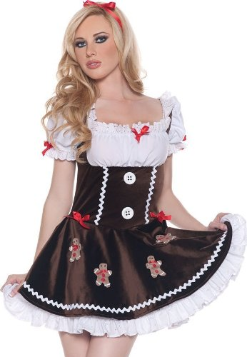 Sexy Sugar and Spice Gingerbread Christmas Costume - Womens Small (4-6)