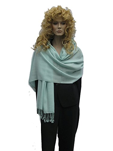 Scarf/Shawl/Wrap/Stole/Pashmina Shawl in solid color from Cashmere Pashmina Group (Celadon Green)